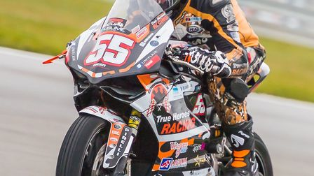 True Heroes rider Michael Russell will be on two and three wheels this weekend. Picture: Barry Clay