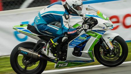 Josh Elliott aims to put the Morello Racing Kawasaki on top of the podium at Brands. Picture: Barry
