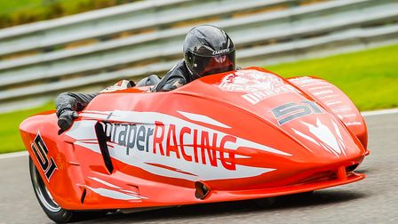 North Walsham's Jack Tritton joins Simon Gilbert in the sidecars. Picture: Barry Clay