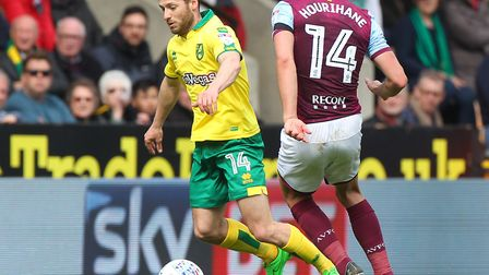 Wes Hoolahan is set to make his 350th appearance for Norwich City during tonight's game. Picture by