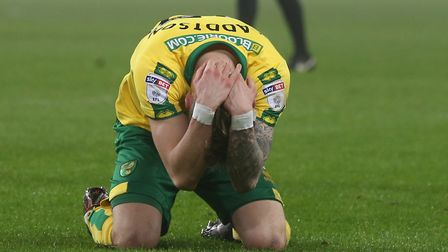 James Maddison is distraught after missing a good chance at the Stadium of Light. Picture: Paul Ches