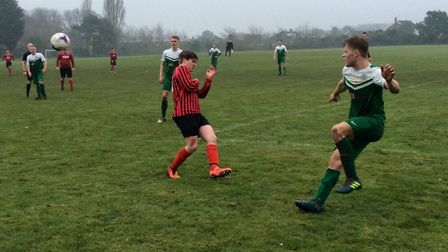 Action from the top-of-the-table clash in Division Two between Drayton Dazzlers (green) and Woolpack