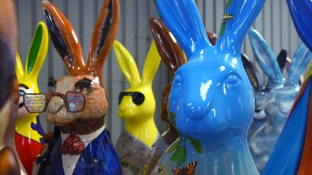 The GoGoHares are all together ready for the trail to begin. Picture: DENISE BRADLEY