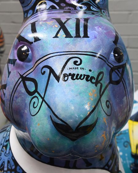 A detail from one of the GoGoHares. Picture: DENISE BRADLEY