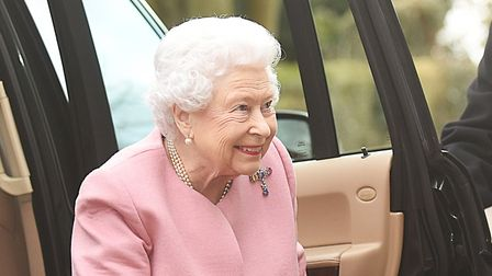 The Queen arriving for the Sandringham WI meeting at West Newton Village Hall. Picture: Ian Burt
