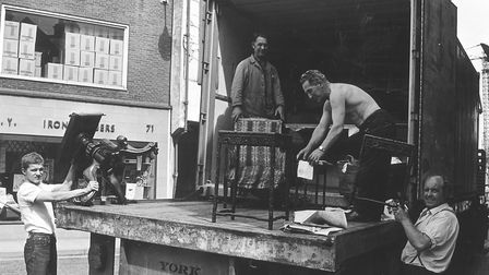 Philip Hunt and Son house removals in the 1970s. Picture: Archant Library