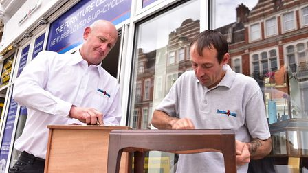 Removals firm Loads4Less has diversified by opening an upcycling store. Director Adam Soall and Wayn