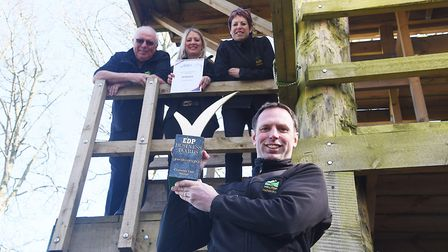 At Hilltop with their EDP Business Award are the Reed family, (from left) Martin, Helen, Sue & Olly,