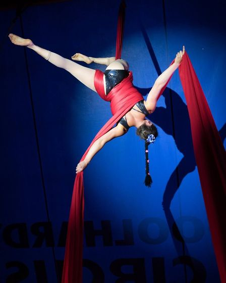 Foolhardy Circus' new show Whoops! is celebrating the 250th anniversary of circus.Pictured is Sue La