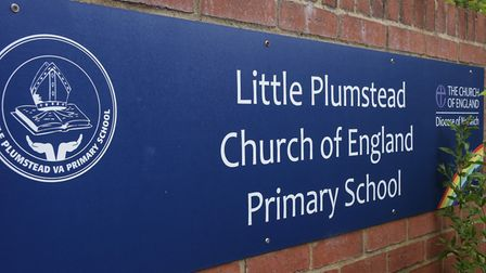 Little Plumstead Primary School sign. Picture: DENISE BRADLEY