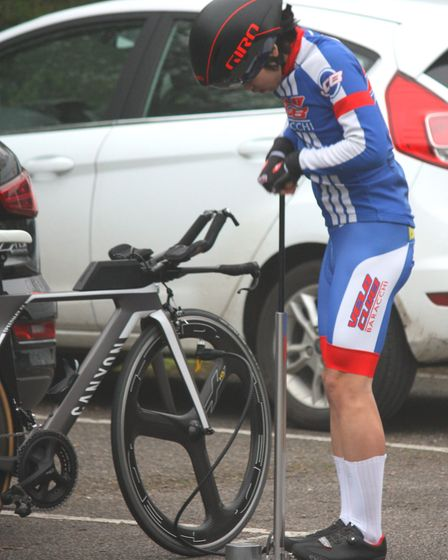 Gorleston rider Lucas He, was the first junior, at the Wolsey RC 25. Picture: Dominic Austrin
