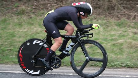 Cindy Berry was the top Norwich finisher in fourth at the Wolsey RC 25. Picture: Dominic Austrin