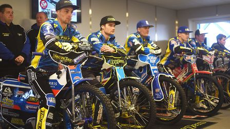 King's Lynn Stars ready for the off. Picture: Ian Burt