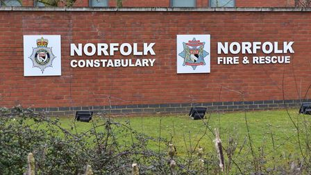 Norfolk Constabulary and Norfolk Fire and Rescue at Wymondham.