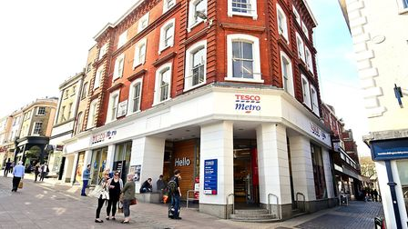 Tesco Metro on Guildhall Hill, Norwich. Picture: ANTONY KELLY