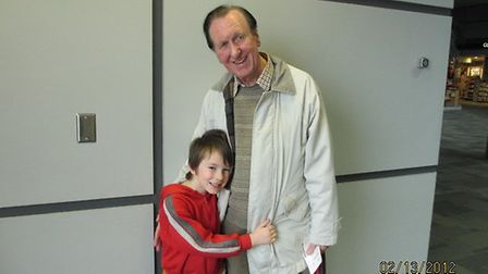 Ron Wilkie with his grandson Grayson in 2012. Photo: GrahamWilkie