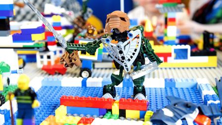 Lego Big Build event to support Autism Awareness at Norwich Library.Picture: Nick Butcher