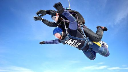 David Vaughan skydived to raise money for The Walnut Tree Project. Picture: David Vaughan
