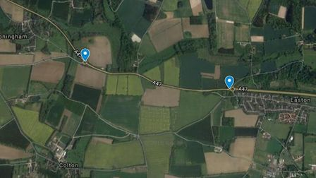 Norfolk Police said the accident happened between the Honingham and Easton roundabouts, causing the