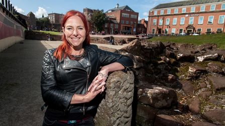 Professor Alice Roberts in Chester - later in the Britain's Most Historic Town series, Alice will be