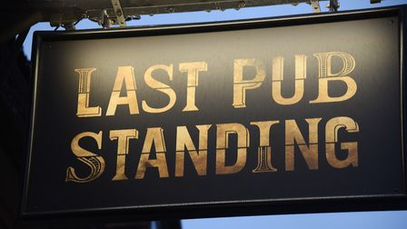 The sign at the Last Pub Standing, newly opened in King Street. Picture: DENISE BRADLEY