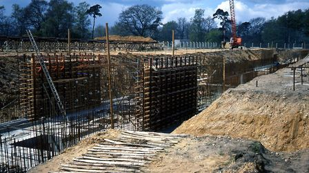 The Sainsbury Centre for Visual Arts being built in the late 1970s. Picture: UEA Art History Photogr