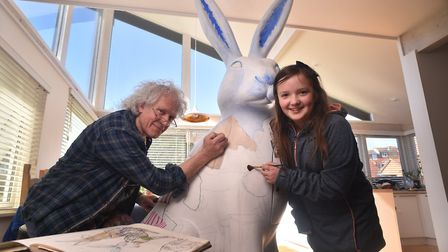 Holly the Hare GoGoHare, designed by competition winner Holly Kckenna and decorated artist Paul Jack