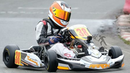 Aaron Alexander in action at Stretton. Picture: Mark Hall Photography