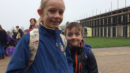 Hope and Oliver Gardner at the Spring Fling. Picture: Sophie Smith