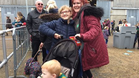 Clare, Chloe and Archie Ladbrooke at the Spring Fling. Picture: Sophie Smith
