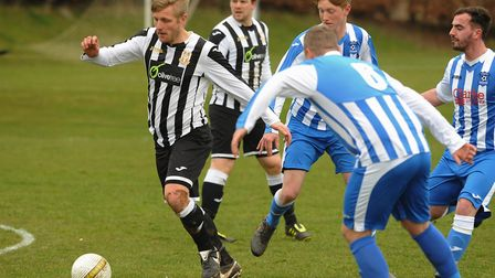 Brett Colclough in possession for Acle against Mattishall. Picture: DENISE BRADLEY