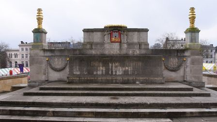 The Norwich War Memorial which is in need of a clean up. Picture: DENISE BRADLEY