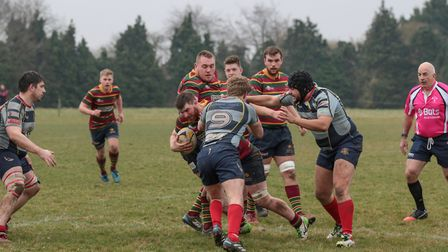Norwich on their way to victory over Old Cooperians at Beeston Hyrne. Picture: Andy Micklethwaite
