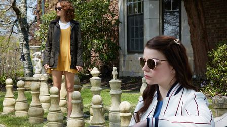Olivia Cooke as Amanda and Anya Taylor-Joy as Lily in Thoroughbreds. Photo: Focus Features/Universal