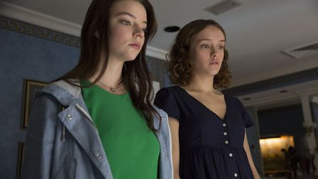 Anya Taylor-Joy as Lily and Olivia Cooke as Amanda in Thoroughbreds. Photo: Focus Features/Universal