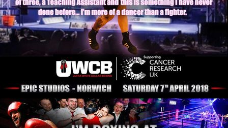 Rachel Alexander will be boxing for chairty at Epic Studios in Norwich on April 7. Picture provided