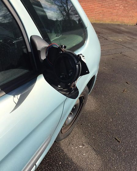 The Citroen Xsara Picasso on Finkelgate. Picture Charlie Coe.