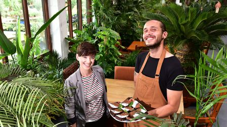 Eat Suffolk: Urban Jungle Plant Nursery and Cafe, Beccles.Amelia Flavell and Joe Enhari.Picture: N