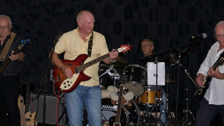 A photo of Terry Long, in the middle with Pat Wood on the left, Rod Kidd on the right and Luke Wats