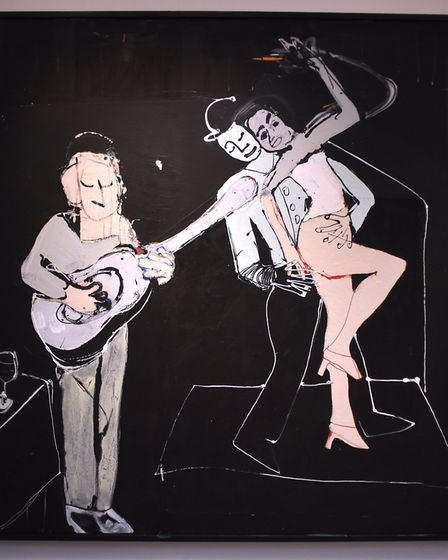 Taverna Dance, by artist John Kiki, who has an exhibition at Mandell's Gallery. Picture: ANTONY KELL