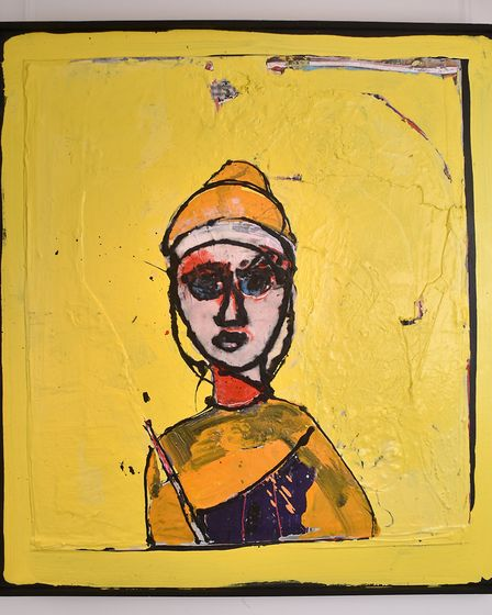 Boudica, by artist John Kiki, who has an exhibition at Mandell's Gallery.Picture: ANTONY KELLY
