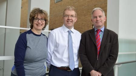 L-R: Deborah Asher, Biomedical Scientist, Dr Hamish Lyall, Consultant Haematologist and Mr Alastair