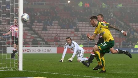 James Maddison strikes the outside of a post at Sunderland. Picture: Paul Chesterton/Focus Images Lt