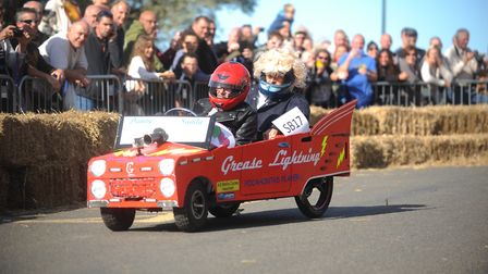Thousands of people lined the streets of Hunstanton to watch the Soap Box Derby. Picture: Ian Burt