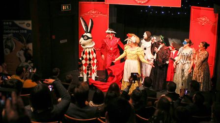 A special event was held at Norwich Puppet Theatre to reveal the GoGoHare Hare LeQuin, sponsored by