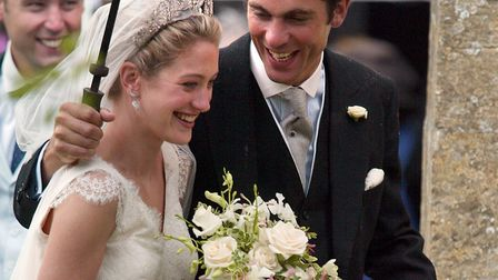 File photo dated 04/06/2005 of Hugh and Rose Van Cutsem who could be the choice for godparents. Pict