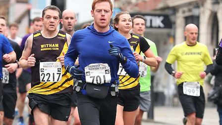 Mark Armstrong in action at the Colchester Half Marathon. Picture: Sussex Sport Photography