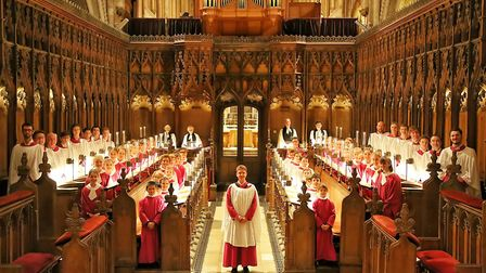 Master of Music Ashley Grote with the Norwich Cathedral ChoirPhoto: Paul Hurst