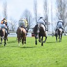 West Norfolk Hunt's Point to Point meeting at Fakenham Racecourse. Action from the third race of the