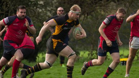 Dom Hill powers towards the try line during Southwold's win over Wisbech last week. The result was n